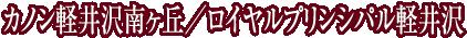 カノン軽井沢南ヶ丘/ロイヤルプリンシパル軽井沢